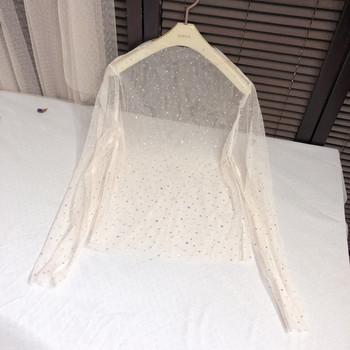 Модерна дамска блуза в три цвята с дълъг ръкав