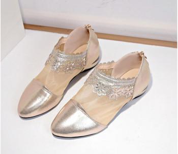 Ежедневни дамски обувки с дантела в два цвята