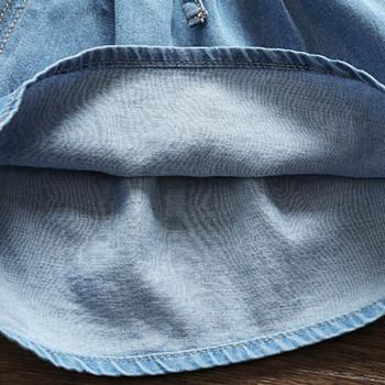 Детски къси дънки в син цвят-за момичета