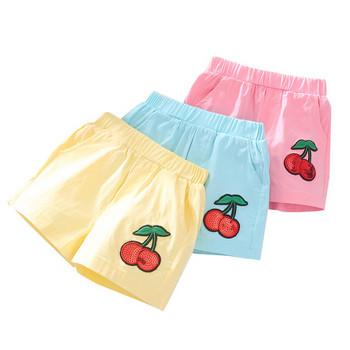Детски къси панталони за момичета в три цвята с пайети