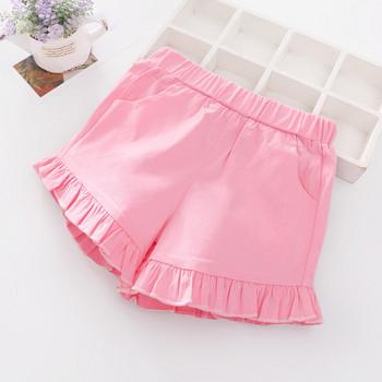 Детски къси панталони за момичета в три цвята с джобове