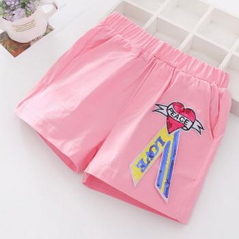 Детски къси панталони в три цвята с пайети-за момичета
