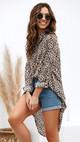 Дамска риза асиметричен модел с животински десен