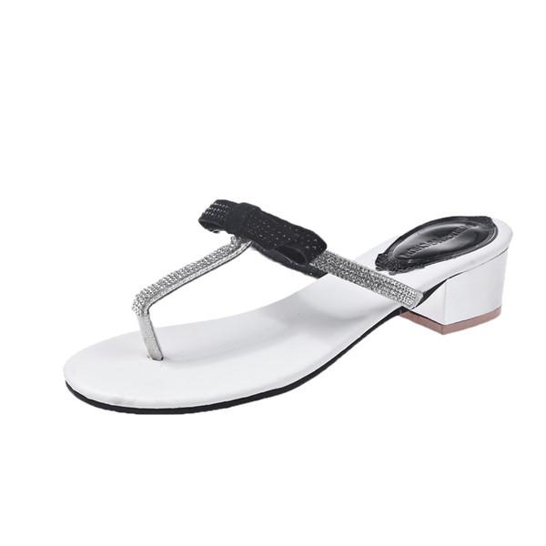ad24c9d8656 Модерни дамски чехли в три цвята с панделка и декоративни камъни - Badu.bg  - Светът в ръцете ти