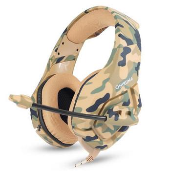 Геймърски слушалки ONIKUMA K1 B с микрофон - камуфлажни