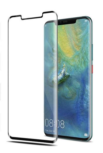 Стъклен протектор за Huawei Mate 20 Pro - Edge Glue черен