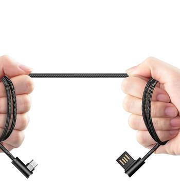 Високоскоростен дата кабел - тип A + USB черен цвят