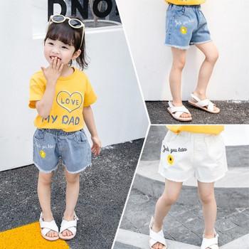 Детски къси панталони в два цвята с бродерия-за момичета