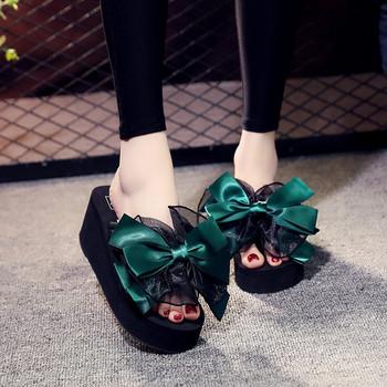 Нов модел  дамски чехли с 3D елемент в няколко цвята