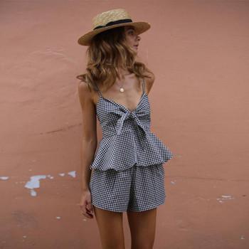 ХИТ Модерен дамски комплект от две части -потник и къси панталони