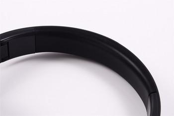 Стерео bluetooth слушалки модел SY-BT1609 сгъваеми с опция за AUX режим - черни с розово