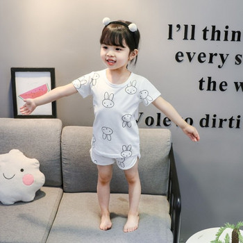 Детска пижама от две части в бял цвят-за момичета