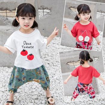 Детска модерна тениска в два цвята-за момичета