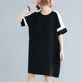 Ежедневна  дамска рокля широк модел в черен цвят