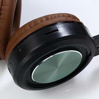 Bluetooth слушалки модел SY-BT1614  със слот за  TF/SD карта в тъмно кафяв цвят