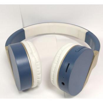 Bluetooth слушалки модел SY-BT1606  със слот за  TF/SD карта в син цвят