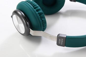 Bluetooth слушалки модел SY-BT1616 със слот за  TF/SD карта в зелен цвят