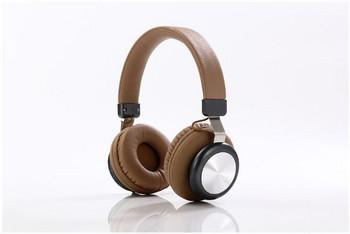 Bluetooth слушалки модел SY-BT1616 със слот за  TF/SD карта в кафяв цвят