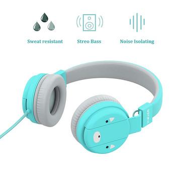 Детски слушалки в син цвят за деца над 3 години