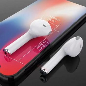 Безжични Bluetooth  слушалки TWS I7S  с Powerbank  в бял цвят
