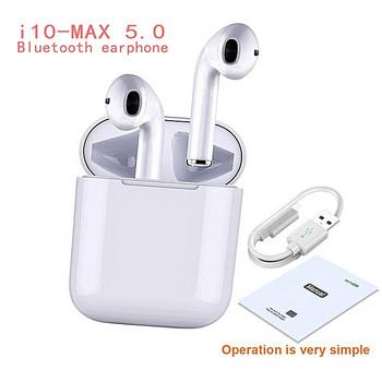 Безжични Bluetooth  слушалки TWS I10-MAX  с Powerbank  в бял цвят