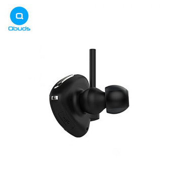 Безжични Bluetooth  слушалки Qbuds E1 за спорт в черен цвят