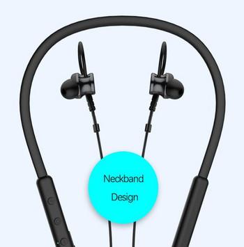 Безжични Bluetooth  слушалки Gorsun E12 за спорт с микрофон в черен цвят