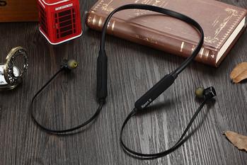 Безжични Bluetooth  слушалки X1 за спорт с микрофон, Bluetooth,магнит в черен цвят