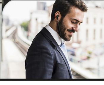 Безжични Bluetooth  слушалки TF -6 за спорт с микрофон, Bluetooth,магнит и Micro SD в черен цвят