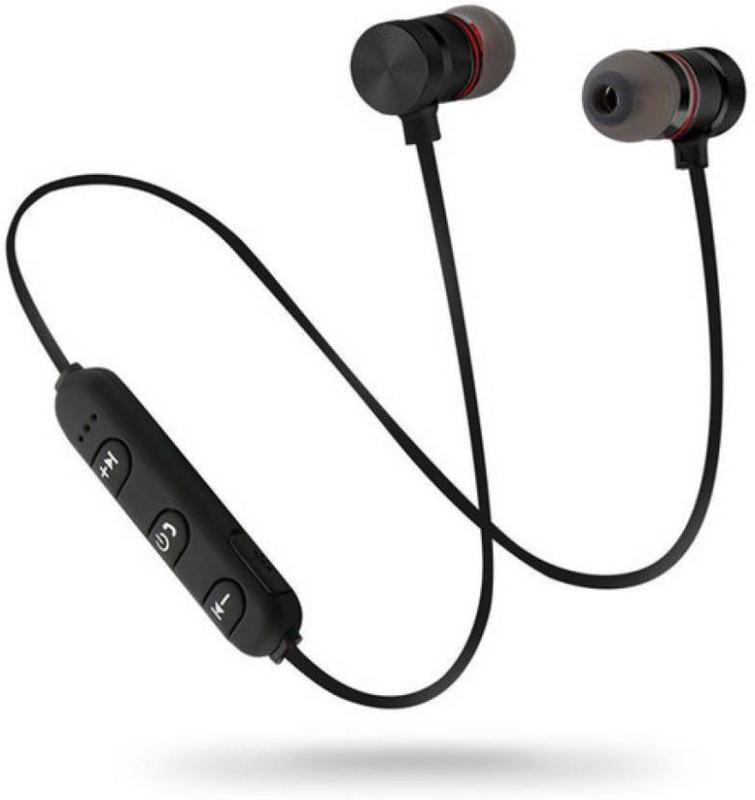 Безжични Bluetooth  слушалки Sports headset  с магнит и вграден микрофон  в черен цвят