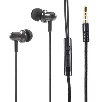 Слушалки тапи U20  с микрофон в черен цвят