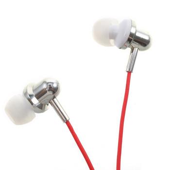 Слушалки тапи U20  с микрофон в червен цвят