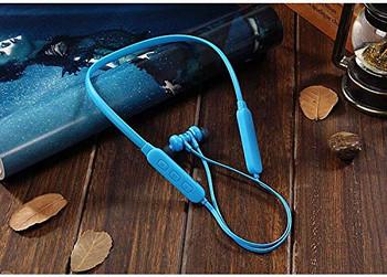 Безжични Bluetooth  слушалки TF 3 за спорт с микрофон и Micro SD в син цвят
