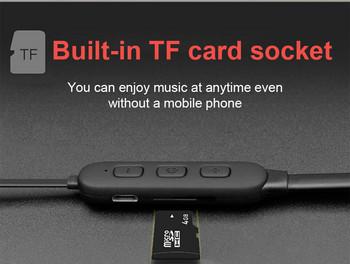 Безжични Bluetooth  слушалки TF 3 за спорт с микрофон и Micro SD в черен цвят
