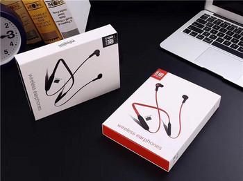 Безжични Bluetooth  слушалки TF -6 за спорт с микрофон, Bluetooth,магнит и Micro SD в червен цвят