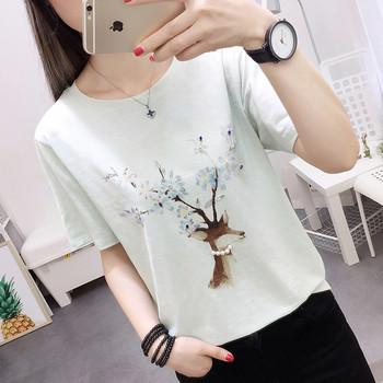 df63f0611f0 Дамска блуза в три цвята с апликация перли и камъни - Badu.bg ...