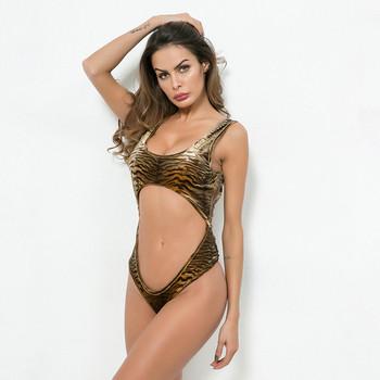 82596ba1a75 badu.gr - Μοντέρνο γυναικείο ολόσωμο μαγιό με τίγρη πριντ