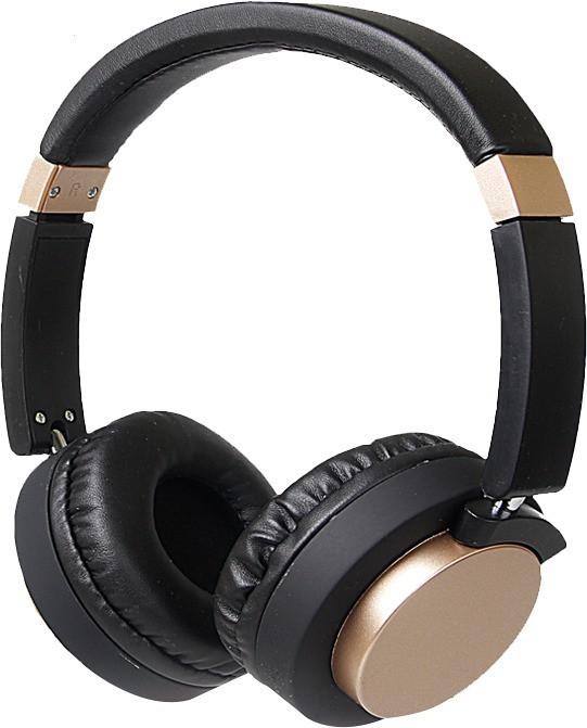 Bluetooth слушалки модел SY - BT 1603 с микрофон в черен със златист цвят