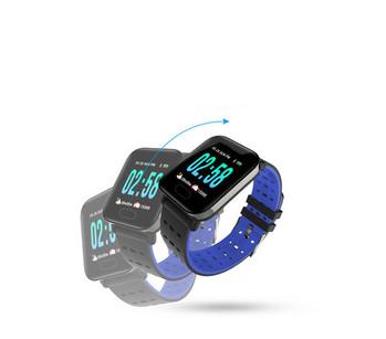Смарт часовник в черен цвят със синьо модел A6