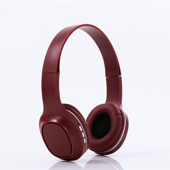 Bluetooth слушалки модел SY-BT1619 със слот за  TF/SD карта в бордо цвят