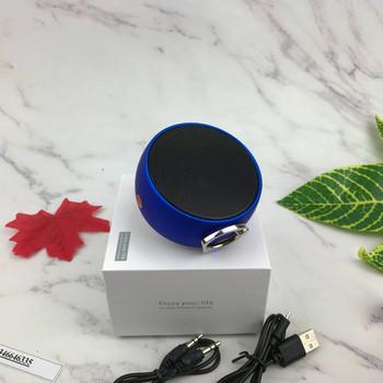 Преносима bluetooth колонка BS02 с USB порт и слот за TF/SD card - син цвят