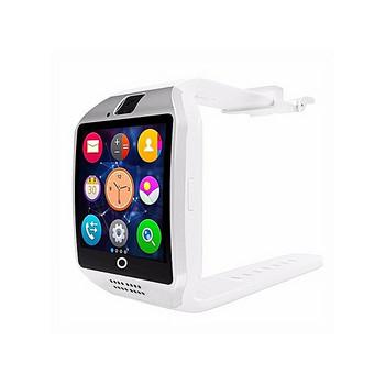Смарт часовник модел Q18 с камера и слот за сим карта с бяла силиконова каишка