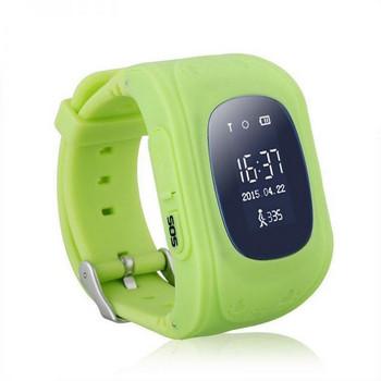 Детски смарт часовник в зелен цвят модел Q50