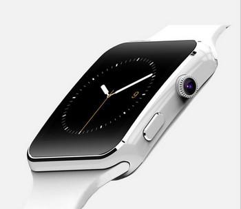 Смарт часовник със силиконова каишка модел X6 в бял цвят