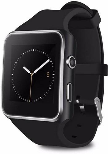 Смарт часовник със силиконова каишка модел X6 в черен цвят