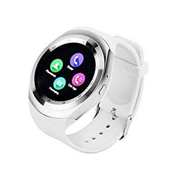 Смарт часовник в бял цвят и силиконова каишка - модел Y1