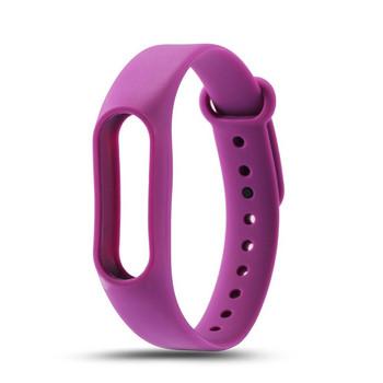 Силиконова каишка за фитнес гривни модел M2 - лилав цвят