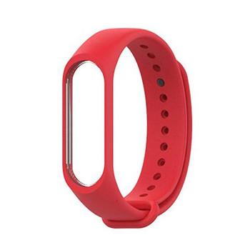 Силиконова каишка за фитнес гривни модел M3 - червен цвят