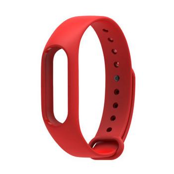 Силиконова каишка за фитнес гривни модел M2 - червен цвят