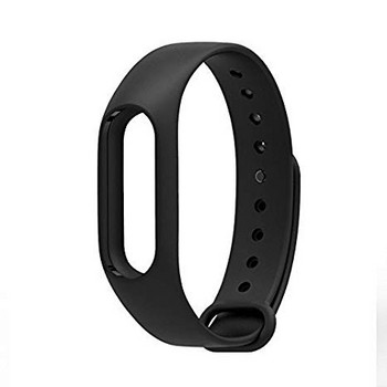 Силиконова каишка за фитнес гривни модел M2 - черен цвят
